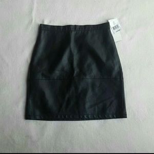 Leather skirt by French connection